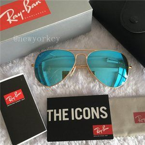 Ray-Ban 3025 Classic  Aviator Sunglasses Blue